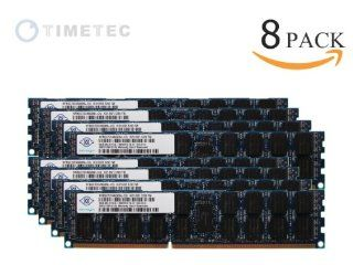 Timetec Nanya� Original 64GB Kit (8*8GB) 240 Pin Dual Rank SDRAM ECC Registered DDR3 1333 (PC3 10600) Server Memory Module Upgrade   (p/n NT8GC72C4NGONL) Lifetime Warranty 64GB Kit (8*8GB) Computers & Accessories
