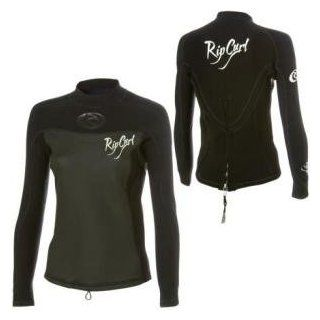 Rip Curl Core 2/1mm Wetsuit Jacket   Long Sleeve   Women's Black, 6  Sports & Outdoors