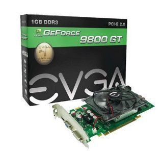 EVGA nVidia GeForce 9800GT 1 GB DDR3 VGA/DVI/HDMI PCI Express Video Card 01G P3 N988 TR Electronics