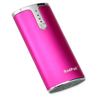 JUMMAX Rose full 5200mAh Portable Power Bank Pack Backup External Battery Charger with built in 2 Flashlight for iPhone 5 4S iPad Mini Samsung Galaxy S4 mini S3 S2 Note 2 , HTC One EVO 4G Motorola XT925 RAZR HD ATRIX Droid Google Nexus 4 + 2in1 cable Elec