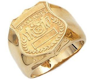 Men's 10k Yellow Gold Saint Florian Ring Jewelry