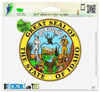 "Idaho State Seal Car Sticker Indoor Outdoor 4"" x 4"" Automotive"