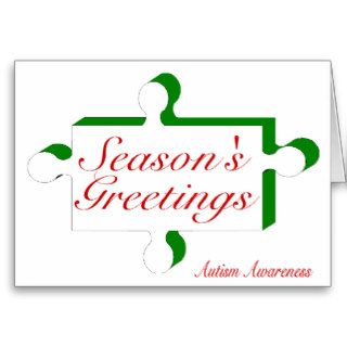 Seasons Greetings Autism Awareness Greeting Card