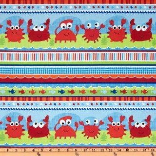 44'' Wide Timeless Treasures Sea Babies Crabs Multi Fabric By The Yard