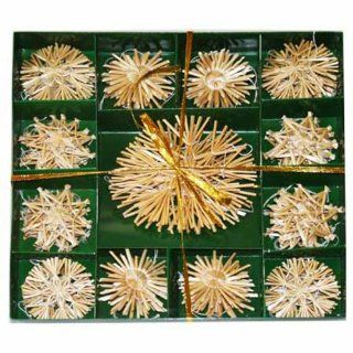 Straw Star Ornament Boxed Set   52 pc   Decorative Hanging Ornaments