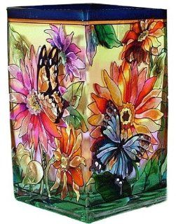 Shop Daisy Butterflies Painted Art Glass Flower Vase / Tealight Holder at the  Home D�cor Store. Find the latest styles with the lowest prices from Amia