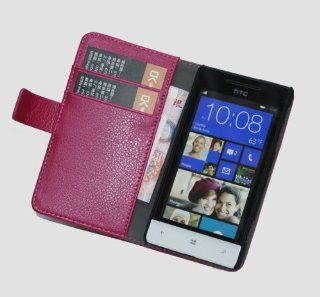 Matek(TM) Pink Magnetic Wallet PU Leather Case Cover Pouch For HTC WINDOWS PHONE 8S Cell Phones & Accessories