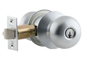 Schlage A53PD PLY 626 C Keyway Series A Grade 2 Cylindrical Lock, Entrance Function, C Keyway, Plymouth Design, Satin Chrome Finish Industrial Hardware