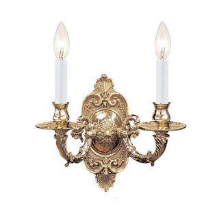 Crystorama Lighting 642 PB Wall Sconce, Polished Brass   Close To Ceiling Light Fixtures