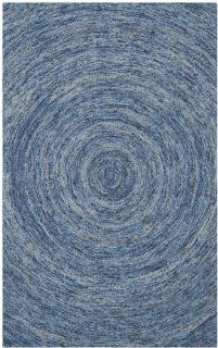 Safavieh IKT633A Ikat Collection Wool Area Rug, 4 Feet by 6 Feet, Dark Blue and Multicolor   Handmade Rugs