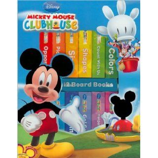 Mickey Mouse Clubhouse 12 Board Books (Book Block Series) Books