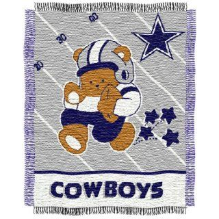 NFL Dallas Cowboys Woven Jacquard Baby Throw Blanket  Sports Fan Throw Blankets  Sports & Outdoors