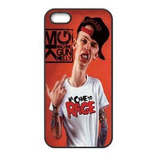 Mystic Zone Fashion Hip hop Singer Machine Gun Kelly Case for iPhone 5 TPU Material Snap on Back Fits Case WSQ1217 Cell Phones & Accessories