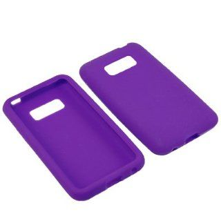 BW Soft Sleeve Gel Cover Skin Case for Virgin Mobile, Sprint LG Optimus Elite LS696  Purple Cell Phones & Accessories