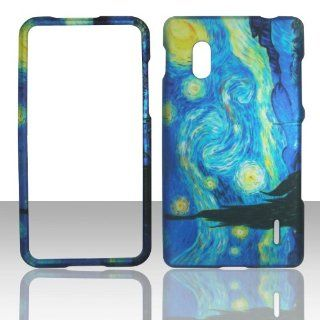 IMAGITOUCH(TM) 3 Item Combo For LG Optimus G E970 Rubberized Snap On Hard Shell Design Faceplate Cover   Van Gogh's Starry Night Arts Painting (Stylus Pen, Pry Tool, Phone Cover) Cell Phones & Accessories