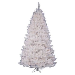 Vickerman Co. Crystal White Spruce 5.5 Artificial Christmas Tree with 450 Clear Lights with Stand Christmas Decor