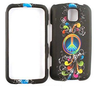 For Lg Optimus M / C Ms 690 Rainbow Peace Music Notes Matte Texture Case Accessories Cell Phones & Accessories