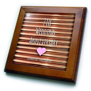 Shop 3dRose ft_154436_1 7th Wedding Anniversary Gift Copper Celebrating 7 Years Together Anniversaries Framed Tile, 8 by 8 Inch at the  Home D�cor Store. Find the latest styles with the lowest prices from 3dRose