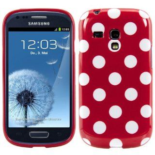 kwmobile TPU CASE for Samsung Galaxy S3 Mini i8190 Polka dot design Red White   Stylish designer case made of premium soft TPU Cell Phones & Accessories