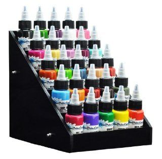 Black Acrylic Tattoo Ink Small Display Stand 5 tier Rack Organizer Table Counter Health & Personal Care