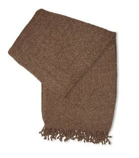 Jovi Home Royal Chenille Hand Woven Throw 50 Inch by 60 Inch, Mocha (Taupe)   Throw Blankets