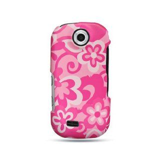 Hot Pink Pop Flower Hard Cover Case for Samsung Suede SCH R710 Cell Phones & Accessories