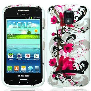 Pink White Flower Hard Cover Case for Samsung Galaxy S Relay 4G SGH T699 Cell Phones & Accessories