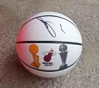 Miami Heat MVP LEBRON JAMES Signed Autographed Logo Basketball COA at 's Sports Collectibles Store
