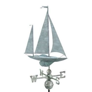 Good Directions Yawl Weathervane   Blue Verde Copper