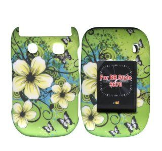 Hawaiien Flowers Blackberry Style, Flip 9670 Case Cover Hard Phone Cover Case Faceplates Cell Phones & Accessories