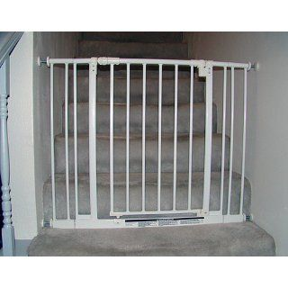 North States Supergate Easy Close Metal Gate, White  Indoor Safety Gates  Baby