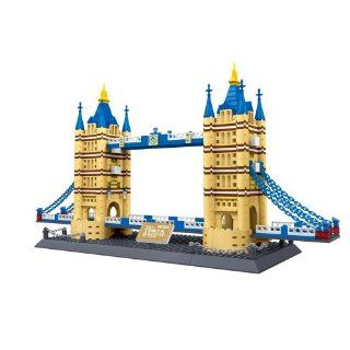 United Kingdom Tower Bridge of London England BUILDING BLOCKS 1033 pcs set BEST GIFT in HUGE BOX  World's great architecture series   COLLECT THEM all  Compatible with Lego parts Toys & Games