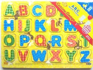 Curious George ABC Wood Alphabet Puzzle RoseArt Toys & Games