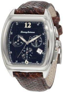 Tommy Bahama Swiss Men's TB1207 Silver Palms Black Dial Barrel Swiss Analog Chronograph Watch Watches