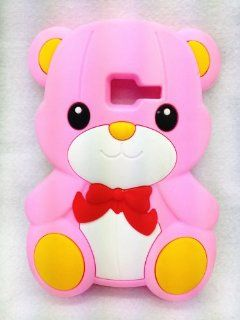Pink Cute Lovely Teddy Bear Soft Case Cover For Samsung Galaxy Discover S730G S730M S740 R740C /Cricket Centura S738C Cell Phones & Accessories