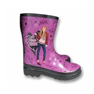 Disney Hannah Montana Rain Boots   Girl's Fashion Raingear (11/12) Toys & Games