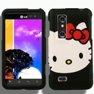 Case + Screen Protector for LG Thrill 4G from AT&T A Hello Kitty Cover Skin Faceplate Cell Phones & Accessories