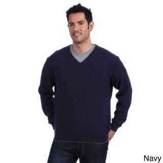 Luigi Baldo Luigi Baldo Italian Made Mens Cashmere V neck Sweater Blue Size Small