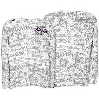 Lakers Unk My Block Thermal Tee   Men's ( sz. L, White  Lakers ) Sports & Outdoors