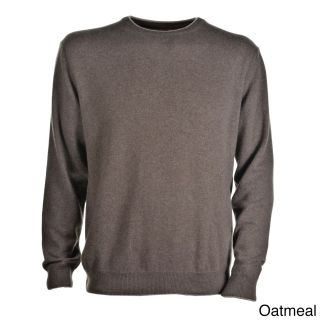 Luigi Baldo Luigi Baldo Italian Made Mens Cashmere Crew Neck Sweater Brown Size M