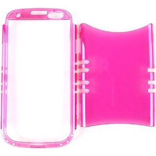 Cell Armor I747 RSNAP A010 ED Rocker Series Snap On Case for Samsung Galaxy S3   Retail Packaging   Trans. Hot Pink Cell Phones & Accessories