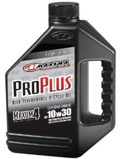 Maxima (30 019128) Pro Plus+ 10W 30 Synthetic Motorcycle Engine Oil   1 Gallon Jug Automotive