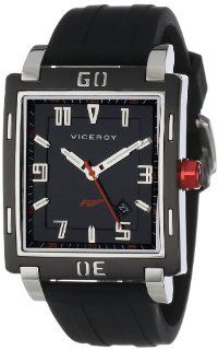 Viceroy Men's 47721 55 Falonso Black and Red Interchangeable Rubber Band Chronograph Day Date Watch Watches