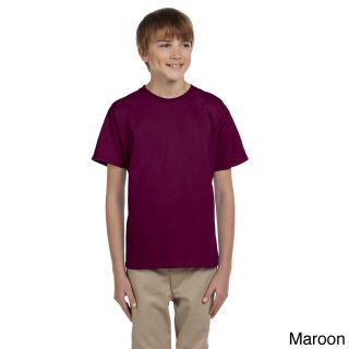 Gildan Gildan Youth Ultra Cotton 6 ounce T shirt Brown Size M (10 12)