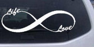 Infinity Symbol Life And Love Girlie Car or Truck Window or Laptop Decal Sticker    White 6in X 2.1in Automotive