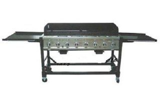 Commercial LP Gas Portable 8 Burner Event BBQ Grill w/ PVC Fitted Cover  Patio, Lawn & Garden