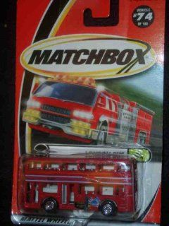 LONDON BUS Matchbox #74 Red Double Decker London Bus 164 Scale Collectible Die Cast Car Toys & Games