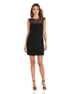 Trina Turk Women's Harriet Open Lace Cap Sleeve Dress, Black, 0