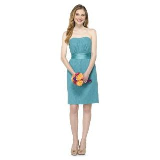TEVOLIO Womens Lace Strapless Dress   Blue Ocean   14
