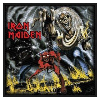 Rockabilia Iron Maiden Number Of The Beast Woven Patch Novelty Applique Patches Clothing